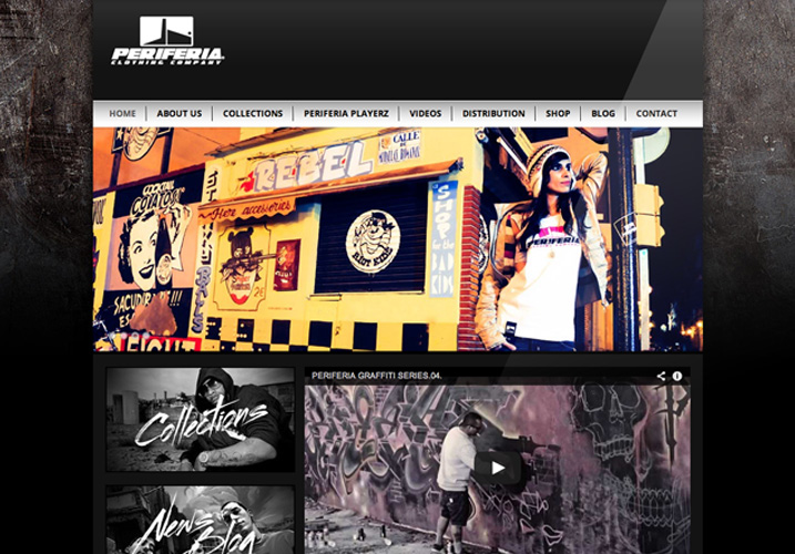Periferia Clothing Company - Diseño y desarrollo web con WordPress